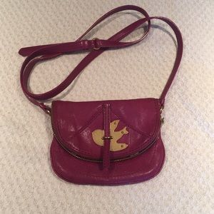 Magenta Marc Jacob Leather Cross Body bag