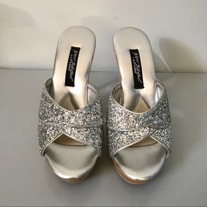 Betsey Johnson Silver Polly Pumps