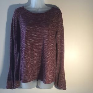 NWT Cupio Top with Bell sleeves L