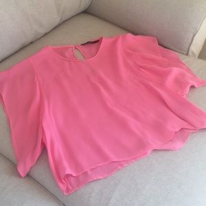 Zara hot pink top