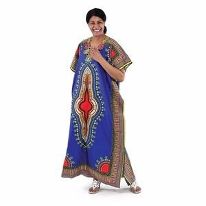 AFRICAN DASHIKI ANKARA PRINT DRESS /KAFTAN
