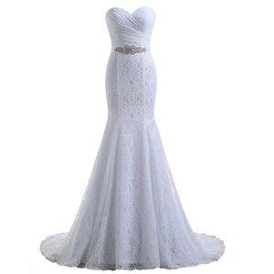 Dresses & Skirts - Lace Mermaid Wedding Prom Dress