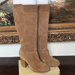 Nine West Tan Suede Boots Sz 9