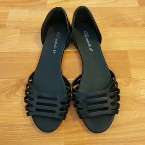 Peep-toe Flats Great Condition