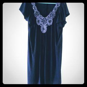 Black dress w/ beaded embellishments