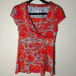 Nanette Lepore Silk Wrap Top