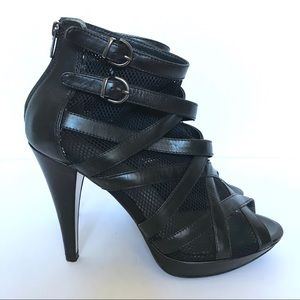 Kenneth Cole Open toe mesh booties