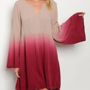 Ombre Tie- dye dress