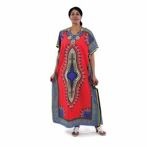 african dashiki ankara print dress / kaftan