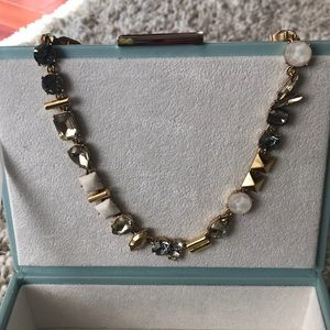 "J. Crew 17"" gold stone necklace"