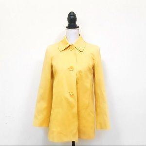 Talbots yellow trench coat size 2