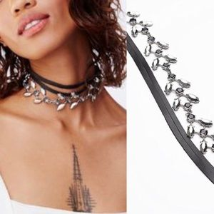 NWT free people luna leather embellished choker
