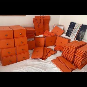 Hermes boxes ! Mint condition !