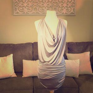 Silver halter dress/top