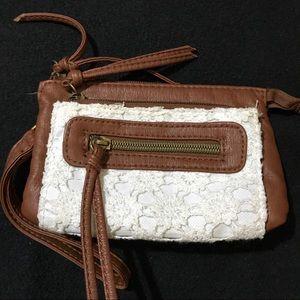 Brown Lace Wristlet