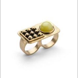 NEW Jewelmint 2-Finger Double Ring MOONBEAM 6/7