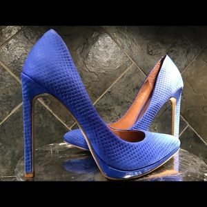 Aldo Pointed Toe Textured Leather Pumps Heels 👠