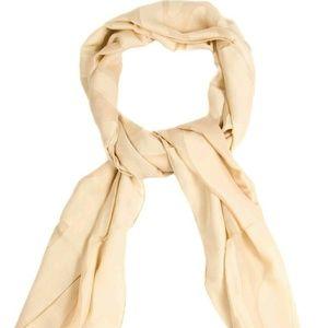 Fendi shawl scarf Peach Blush Nude Silk NWT