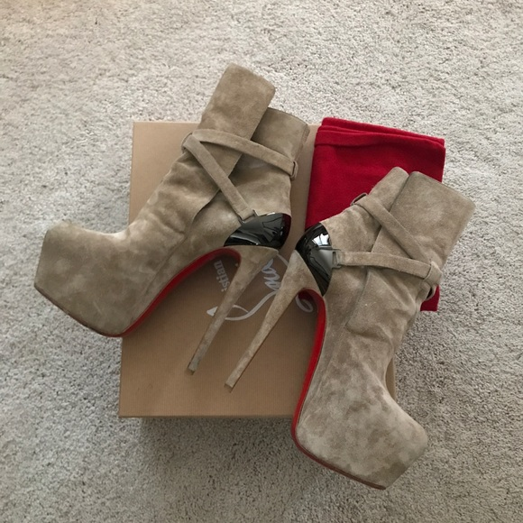 6cf8dd61896 💯Authentic Christian Louboutin Suede Boots. 37.5