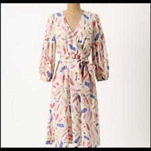 Nathalie Lee Paris Silk Feather Dress