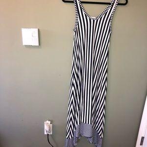 {Gap} blue/ white sleeveless stripped dress nwot