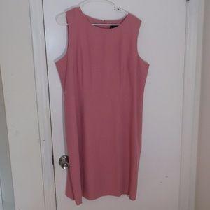 Sag Harbor Rose Pink Sleeveless Sheath Dress 18
