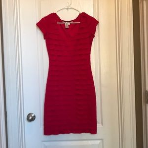 Max Studio Bodycon ruffle dress