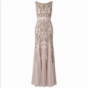 Adrianna Papell Beaded A-Line Gown - Icy Lilac
