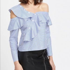 Asymmetric one shoulder top