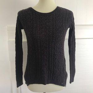 American Eagle purple zip sweater XS
