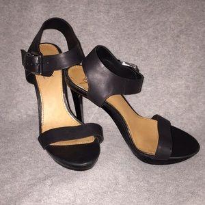 Black Mark + James heeled sandals