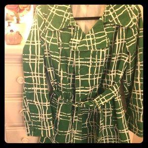 Jackets & Blazers - Striking Green Trench Coat