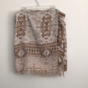 Tribal printed scarf