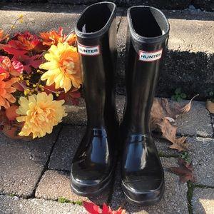 HUNTER KIDS' ORIGINAL GLOSS RAIN BOOT SIZE 4