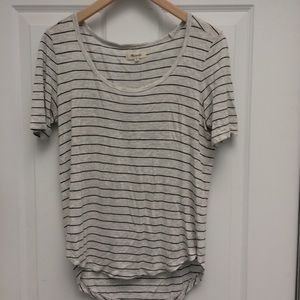 Madewell anthem scoop neck s/s striped tee