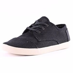 Toms Perforated Paseo Canvas Sneakers, 9