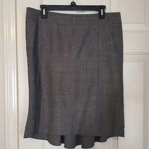 Express Pencil Ruffle Grey Skirt size 10