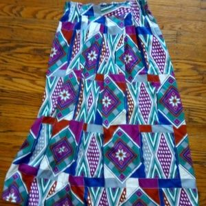 Vibrant Cotton Midi Skirt