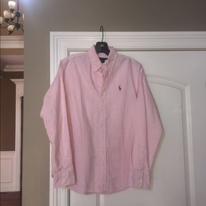 Ralph Lauren Pink Striped Button Down Shirt 8
