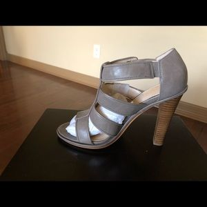 NWOT Coach Sandal heels (taupe/gray) color. New!