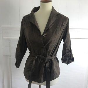 J.Jill light cotton blazer jacket MP
