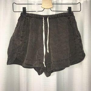 brandy melville brown/grey eve shorts