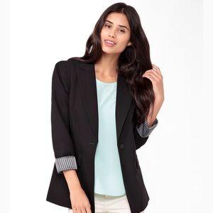 Forever 21 Longline Black Blazer Jacket, Size 6