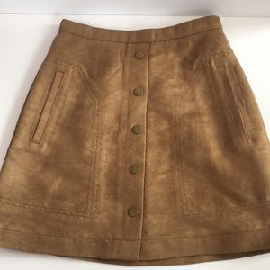 H&M faux suede hipster Minnie skirt size 2