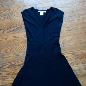 Max Studio Textured Black Midi Dress