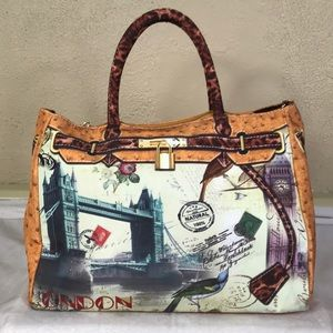Handbags - BIRKIN STYLE LONDON LEOPARD LARGE CLOTH TOTE BAG