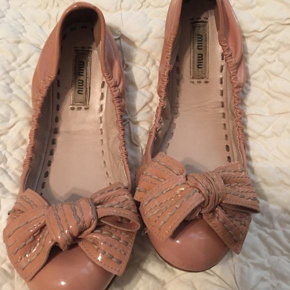 3f7d62690ec Miu miu patent pink bow ballet flats 37. M 5a0f1fc1522b453b8c03a6e7