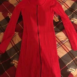 Guess knit bodycon dress size S in red