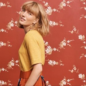 Anthropologie Pure Good Yellow Top