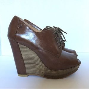 Kenneth Cole wedge booties